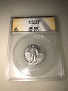 1923-s Standing Liberty Quarter 25c Silver Coin Anacs Au 50 Details Cleaned