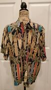 Reyn Spooner Rare 1st Edition Longboards Outrigger Club Mens Shirt Size Small