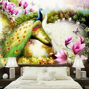 Mural Background Peacock Wallpapers Hand Painted Designs Home Commerce Interiors
