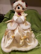 Disney Minnie Mouse Victorian Tree Topper Christmas W Lights