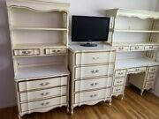 Dixie French Provincial Cream Vintage Complete Bedroom Furniture Set 8 Pieces