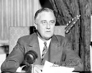 Franklin D Roosevelt Signed 8x10 Inch Print Photo Poster Picture Autograph Rp