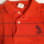 Vintage 1980's Disney Wear Polo Mickey Mouse Shirt Short Sleeve Size M 79
