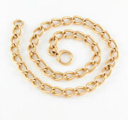 Antique Victorian 15ct Rosey Gold Chain / Necklace 16 Inches 50.9g