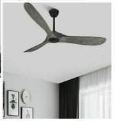 Vintage Ceiling Wooden Fans 52/60 Inches Aluminum Body 28cm Height With Reversal