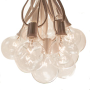 G50 Clear 2 Inch Globe String Lights White Wire For Wedding, Bistro And Tent