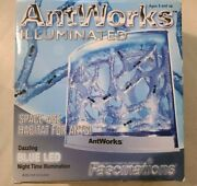 Antworks Illuminated Blue Led Space-age Gel Habitat For Ants Farm Ages 8+
