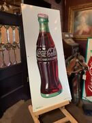 1940and039s Coke Bottle Coca-cola 31 Tin Sign Watch Video