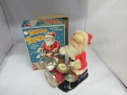 Vintage Christmas Happy Santa Alps Japan Battery Opperated Toy Orig Box 197-