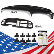 Dash Bezel And Dashboard Cover Overlay Clips Inclu For 98-02 Dodge Ram Pickup