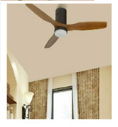 Ceiling Fans Wooden Home Main Fixture With Remote 3 Blades 15w For House Cooling