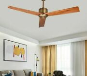 Wooden Ceiling Nickel Fan Simple Blade Style Perfect For Any Locations Area 220v