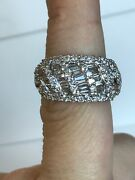 14k Yellow Gold And 2.00ct Diamond Cluster Ring Vintage Style Original Yellow Gold