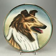 Veneto Flair 1975 Italy Limited Edition Collectorand039s Plate Of A Collie Dog