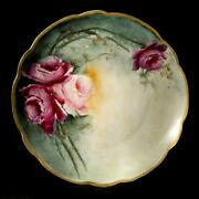 Rare Collectible Antique Porcelain Mz Austia Decoratice Flawer Plate C.1920