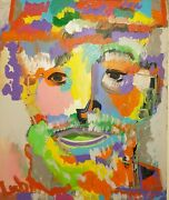 Original Noah Lubin On Canvas Andldquoportrait Of A Man Who Needs A Shave And A Cut Andrdquo