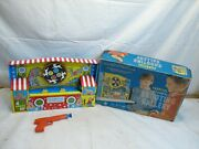 Ohio Art Tin Litho Mechanical Wind Up Carnival Shooting Gallery No. 575 Toy