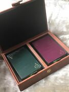 Classic Asprey Leather Playing Card Box. Two Pack. Brand New.