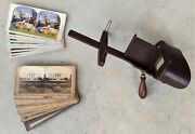 Antique John Ardito J.a. And Co. Stereoscope Stereoviewer Pat. 1872 With 20 Cards
