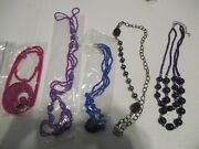 Costume Jewelry Lot Bundle 5 Necklaces Bed Making Auction V