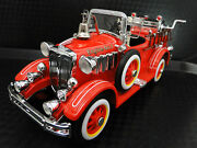 Mini Pedal Car Ford Fire Engine Truck Metal Collector Model-too Small To Ride On