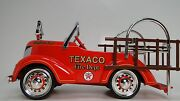 Fire Engine Truck Pedal Car Too Small For A Child Ride On Miniature Metal Body