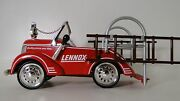 Mini Fire Engine Truck Pedal Car Too Small For A Child To Ride On Metal Body