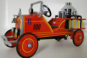 Ford Fire Engine Truck Pedal Car Too Small To Ride On Gt40f150 Metal Body