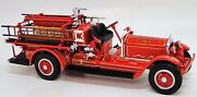 Vintage Classic Antique Red Fire Engine Truck Metal Dream Model Car Pickup Promo