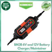 Black+decker Bm3b 6v And 12v High Frequency Portable Battery Charger-maintainer