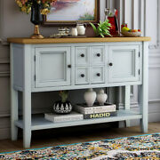 Wood Buffet Sideboard Console Table W/drawers Storage Cabinets Kitchen Entryway