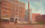 Seattle Watotem Polepioneer Squareunion Ticket Officeno Gas Sign1912