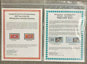 1992 High Orbit 42 Cents And 2007 Year Of The Pig Error Stamp Collections