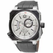 Gv2 By Gevril Menand039s 4520 Xo Submarine Luminous Black Leather Date Wristwatch
