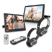 Pyle Portable Car Cd Dvd Tv Player With Wireless Headphones 2 Pack Open Box
