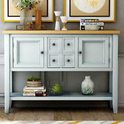 Vintage Wood Sideboard Buffet Console Table W/storage Drawers Cabinets Kitchen