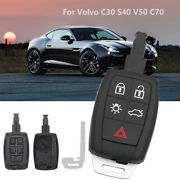 New Replacement Remote Car Key Shell Case Fob 5 Button For Volvo C30 S40 V50 C70
