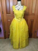 Beauty And The Beast 2017 Live Action Belle Yellow Ballgown Dress Cosplay