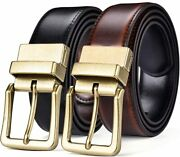 Beltox Menandrsquos Belts Reversible Leather 1.25andrdquo Wide 1 For 2 Male Casual Strap