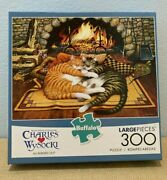 Buffalo Puzzles 300-large Piece All Burned Out Puzzle Euc Complete And Adorable