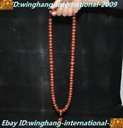 Old Tibet Buddhism Agate Onyx Hand Carved Monk Buddha Beads Prayer Bead Necklace