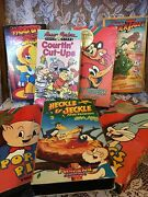 Vhs Set 7 Woody Mighty Mouse Porky Bugs Duck Tales Flint Stones Etc... Rare Oop
