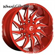 22 X10 Candy Red Milled Fuel D745 Saber Wheels Ford F250 F350 Excursion 8x170