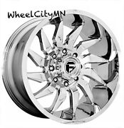 22 X10 Chrome Fuel Saber D743 Wheels Lifted Ford F250 F350 Excursion 8170 -18