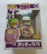 Funko Pop Rides 41 Invader Zim Zim And Gir On The Pig Hot Topic Exclusive