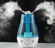 Air Cleaner Purifier Humidifier Ultrasonic Double Mist Mouth Design Wall Plug-in
