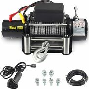 12000-lb12v Waterproof Electric Winch Kit For Truck Utv Atusuv Corded Control