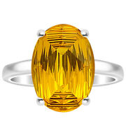 Yellow Sapphire Simulated 925 Sterling Silver Ring S.6.5 Jewelry 80176