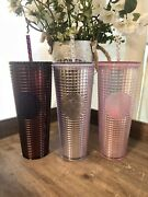 Lot Starbucks 3 Grid Disco Holiday 2020 Cold Cup Tumblers