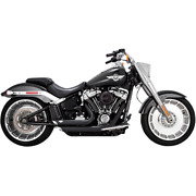 Vance And Hines 47235 - Hd Exhaust Shortshots Staggered Black 2018 Soft Tail